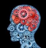 Brain with cogwheels