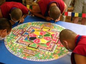 Tibetan sand art